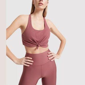 ALO Yoga Knot Sports Bra / Crop Top - Rosewood - M